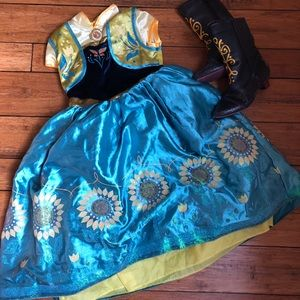 Disney's Anna dress and boots